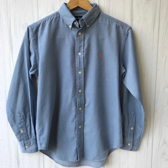 Ralph Lauren Other - Ralph Lauren Light Blue Corduroy Shirt- Boys 12-14
